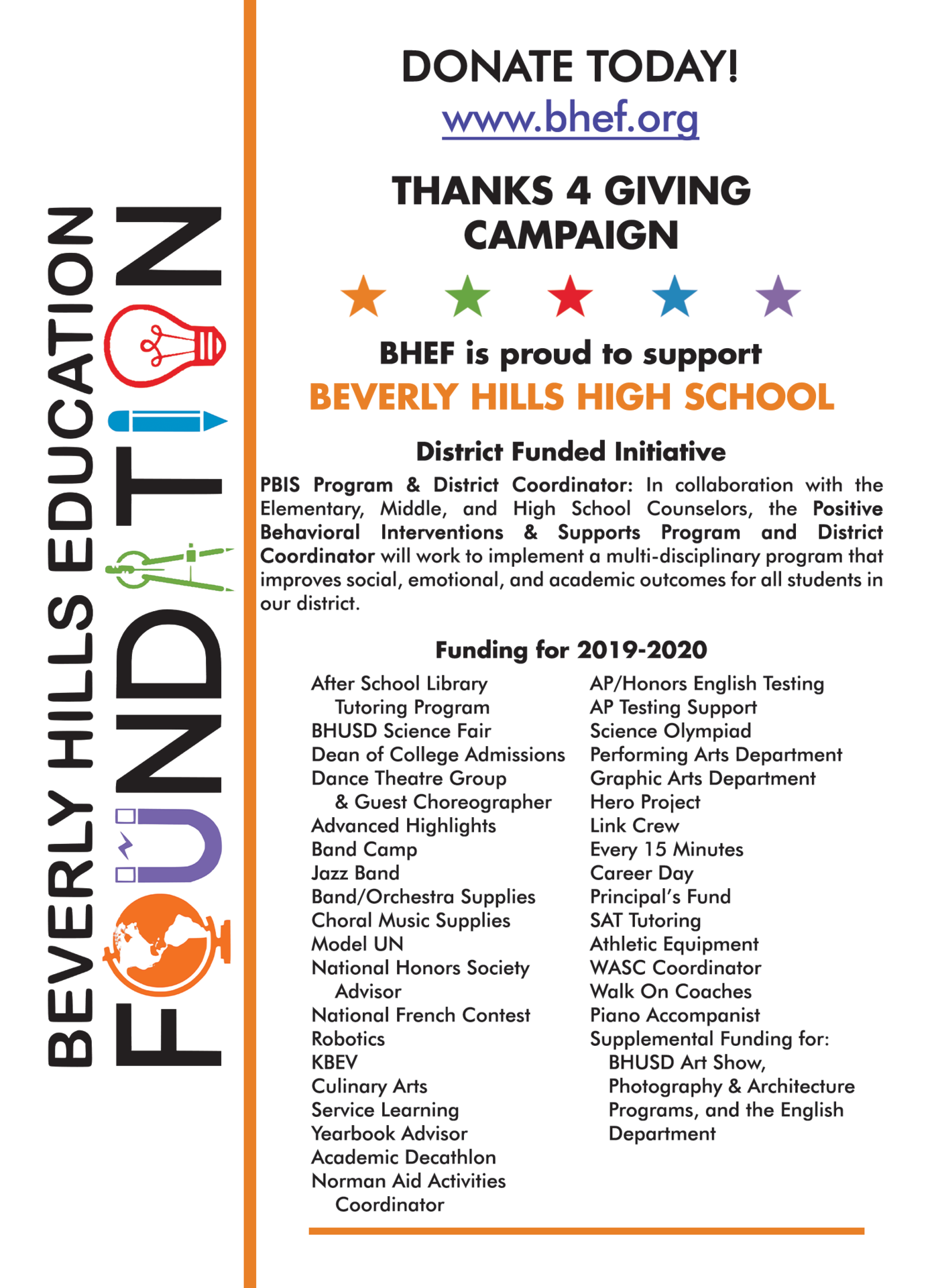 bhhs funded programs 2019