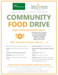 Flyer about the food drive during the month of October.