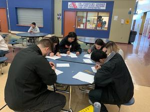 Photo of students at knowledge bowl