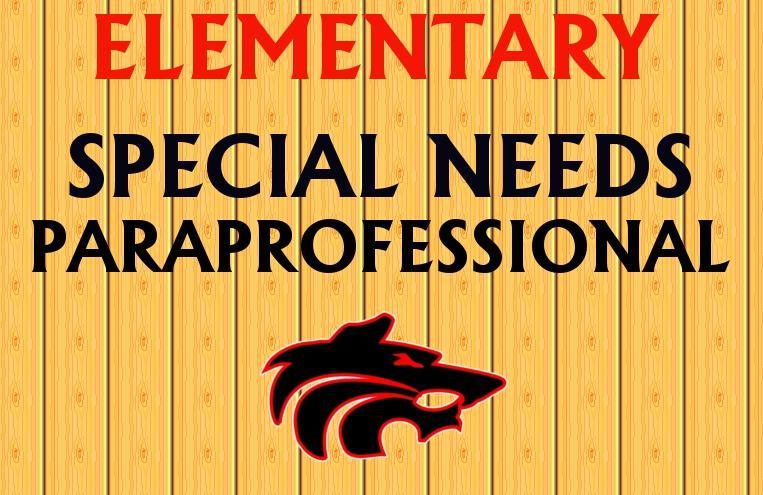 Special Needs Paraprofessional with Wolf Logo