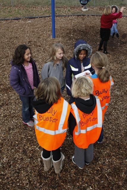 kids in Bully Buster orange vests