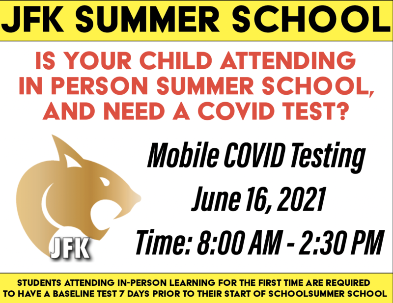 Is your child attending  in person summer school,  and need a Covid Test? Featured Photo