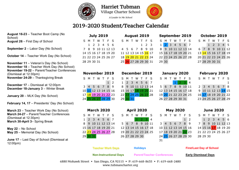 Our 2019-2020 School Calendar Is Now Available! Featured Photo