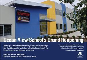Photo of front of Ocean View School