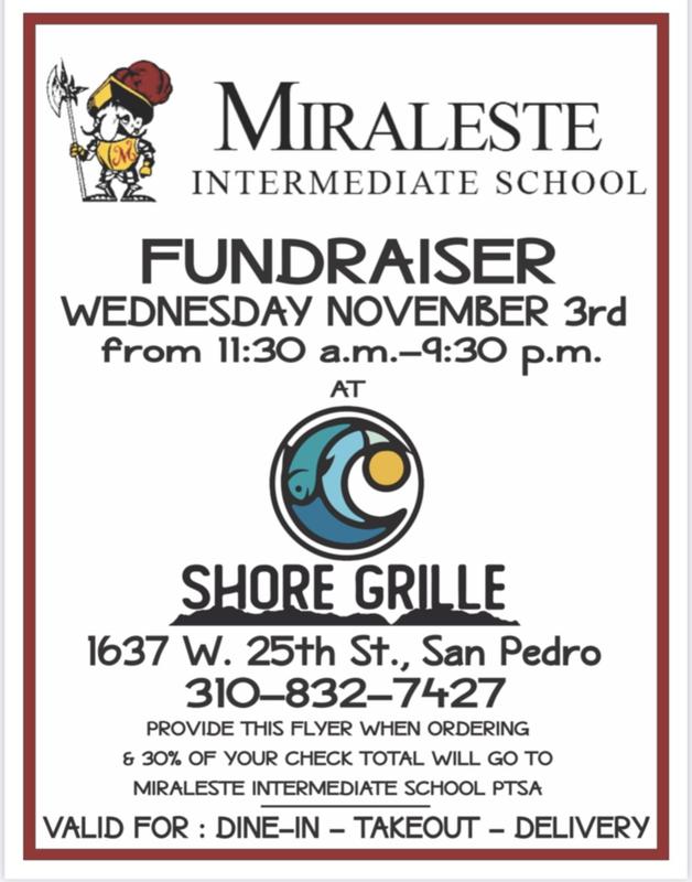 PTSA Fundraiser - Shore Grille
