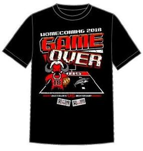 a graphic of the Baker High School 2018 Homecoming T-Shirt