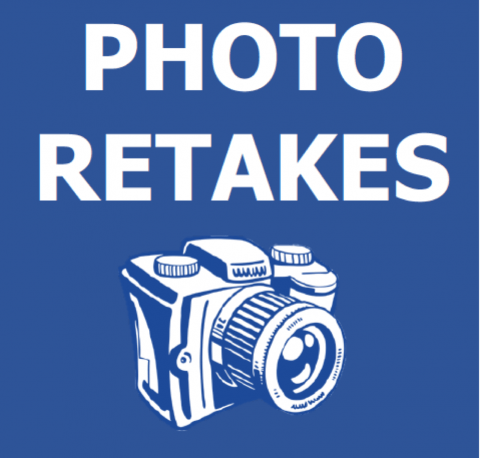 Photo retake sign