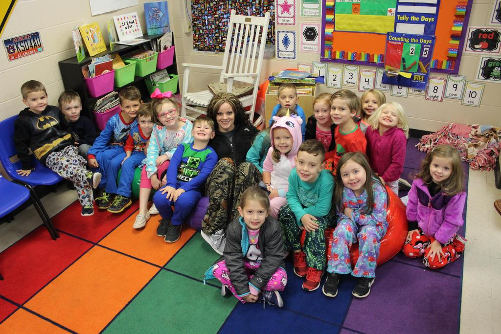 students in PJs