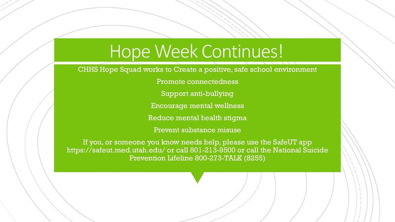Hope Week Continues! Tuesday