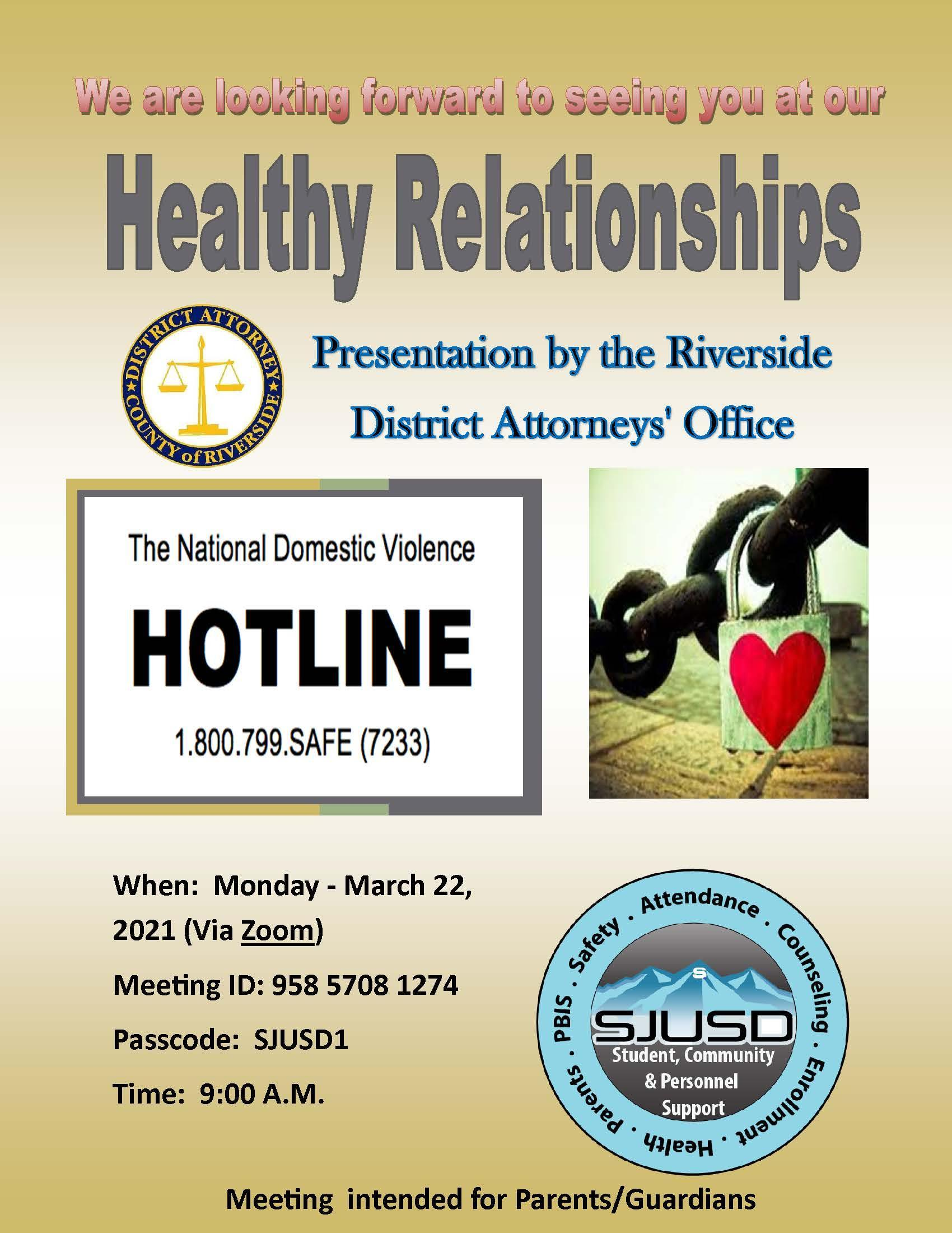 Healthy Relationships Parent Support