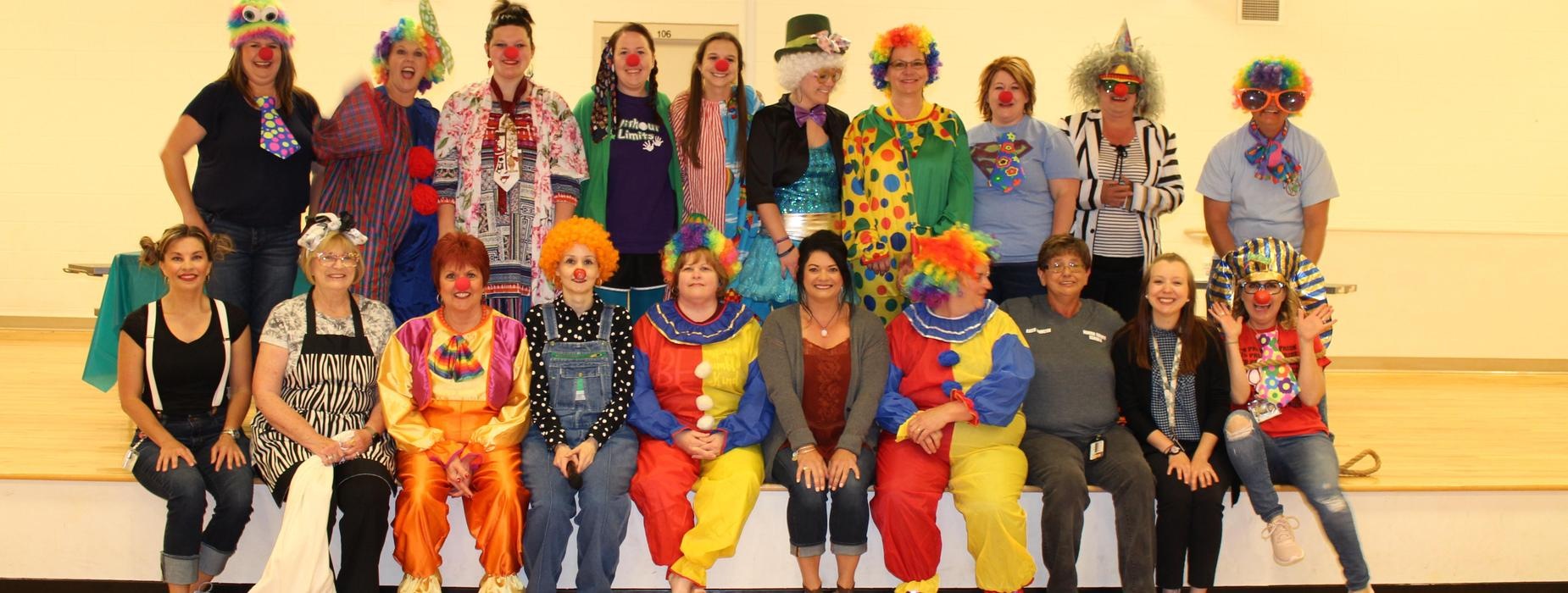 Picture of TPES Faculty and Staff Circus Tug O War participants