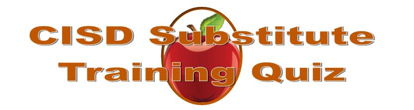 Sub Training Quiz