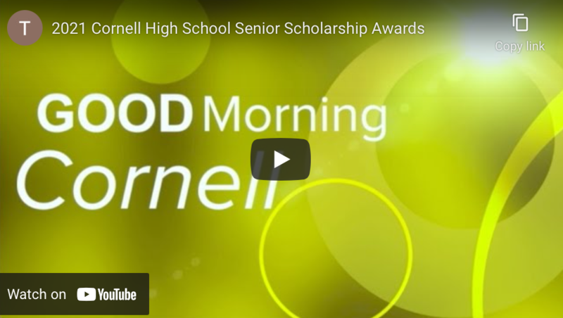 Cornell High School Senior Scholarship Awards Thumbnail Image