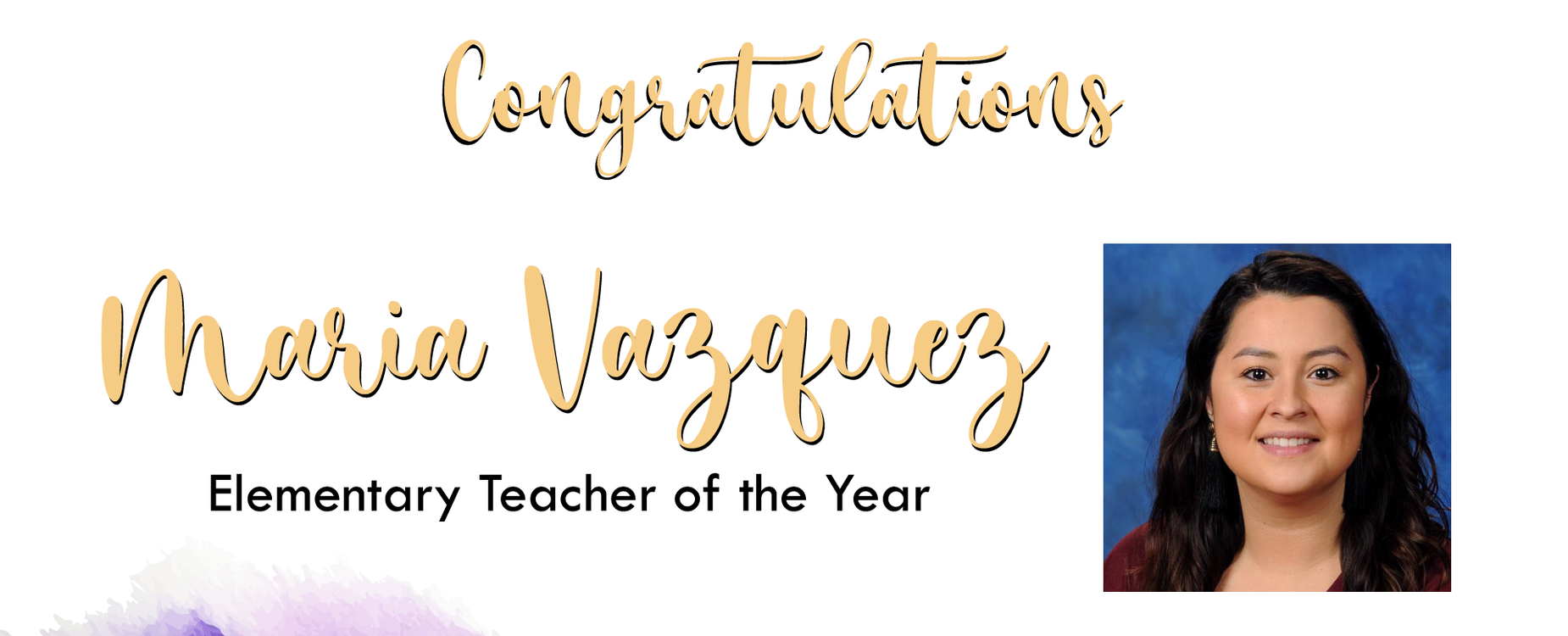MISD Elem. Teacher of the Year, Ms. Vazquez from MES
