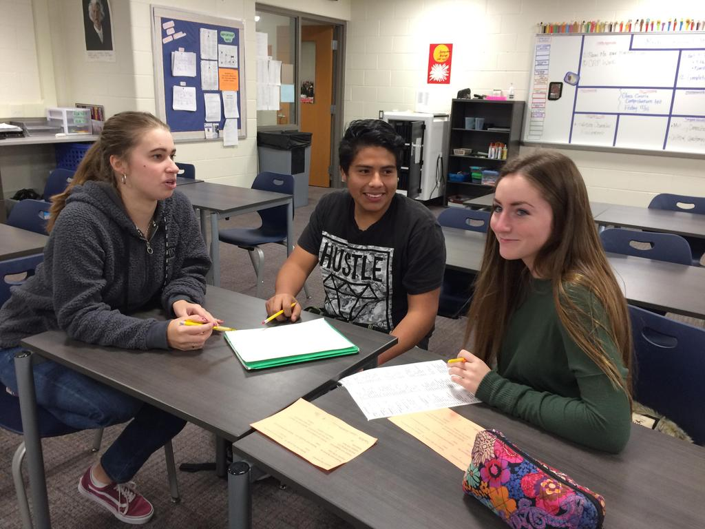 Some of our EL students receive tutoring from Jenison HS AP Spanish studentsand in turn the Jension students get to practice using their Spanish with native Spanish speakers.