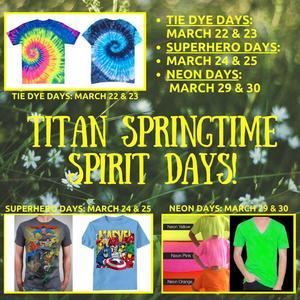 Titan Springtime Spirit Days