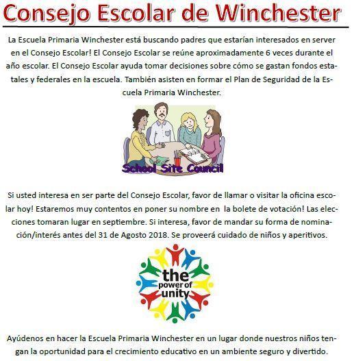 Info flier in Spanish