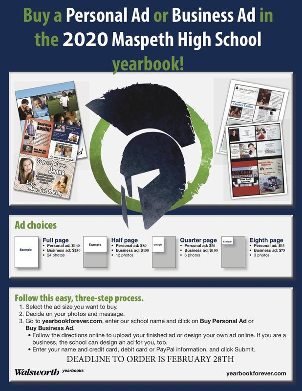 Honor Maspeth High's Seniors by purchasing an Ad in the 2020 Yearbook. Featured Photo