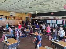 1st grade taking a brain break!