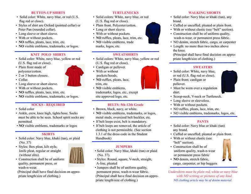 2019-2020 Dress Code Brochure