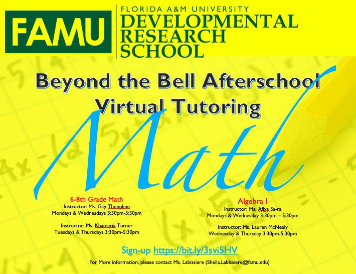 BTB Math Hours Spring 2021
