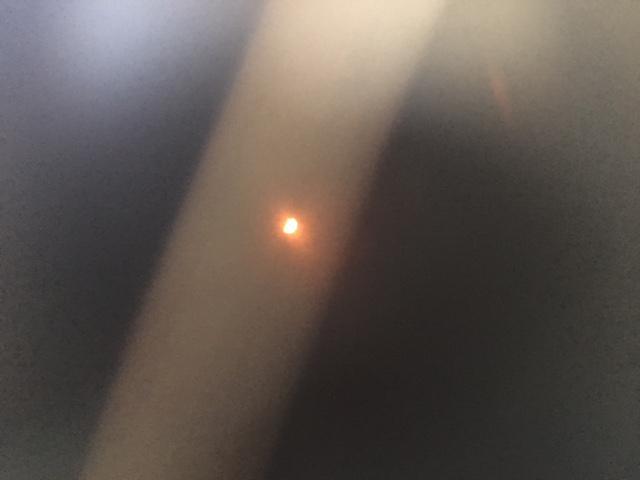 partial solar eclipse in dark sky