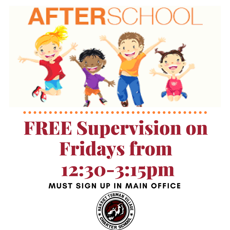 After School Supervision Now offered on Fridays from 12:30-3:15pm! Featured Photo