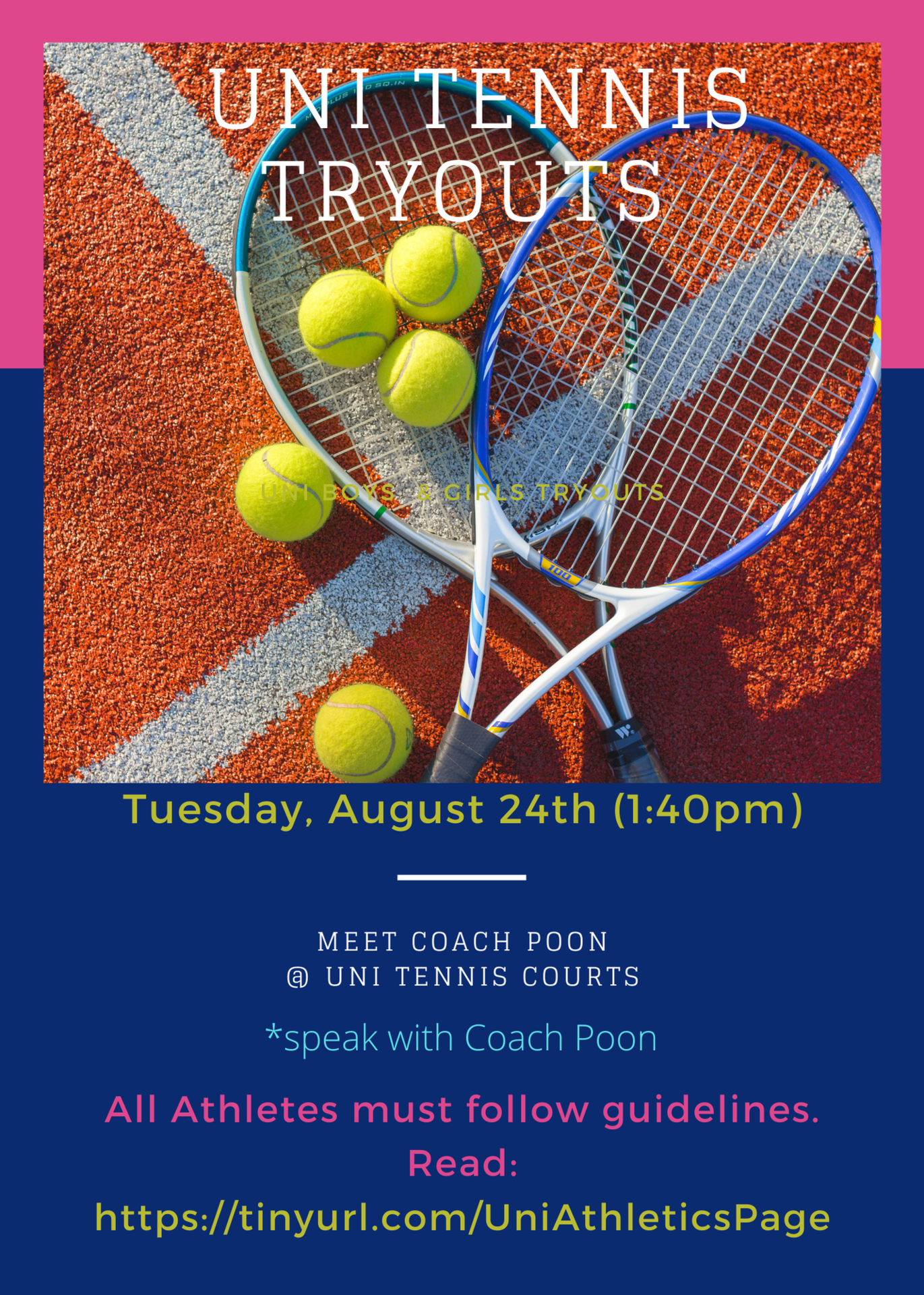 Tennis Tryouts fall 2021