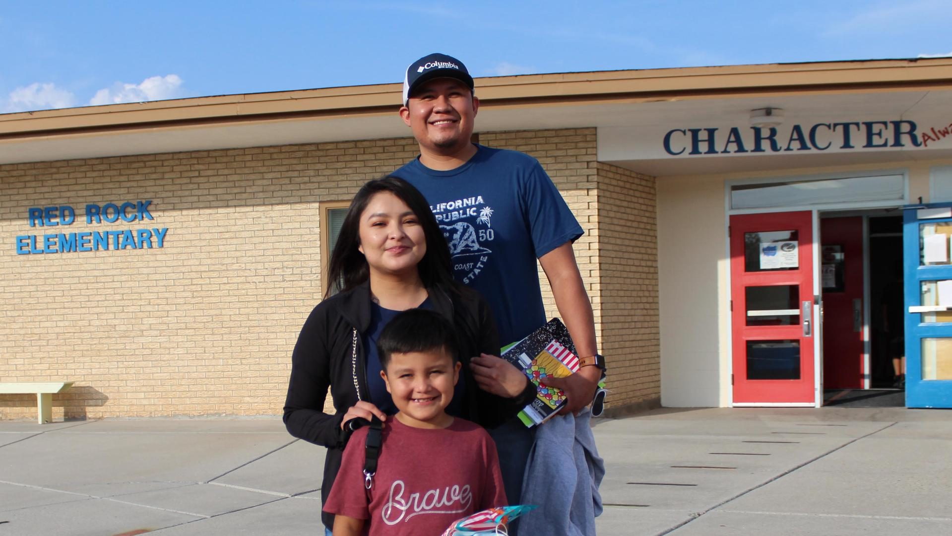 Family from Red Rock Elem