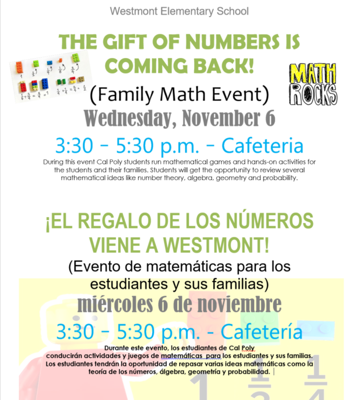 Westmont Math Family Event