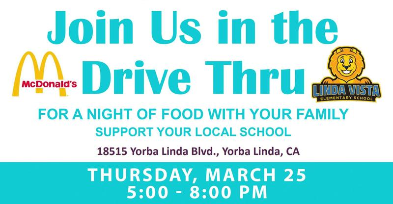 Join Us in the Drive Thru - March 25 @ 5:00 PM
