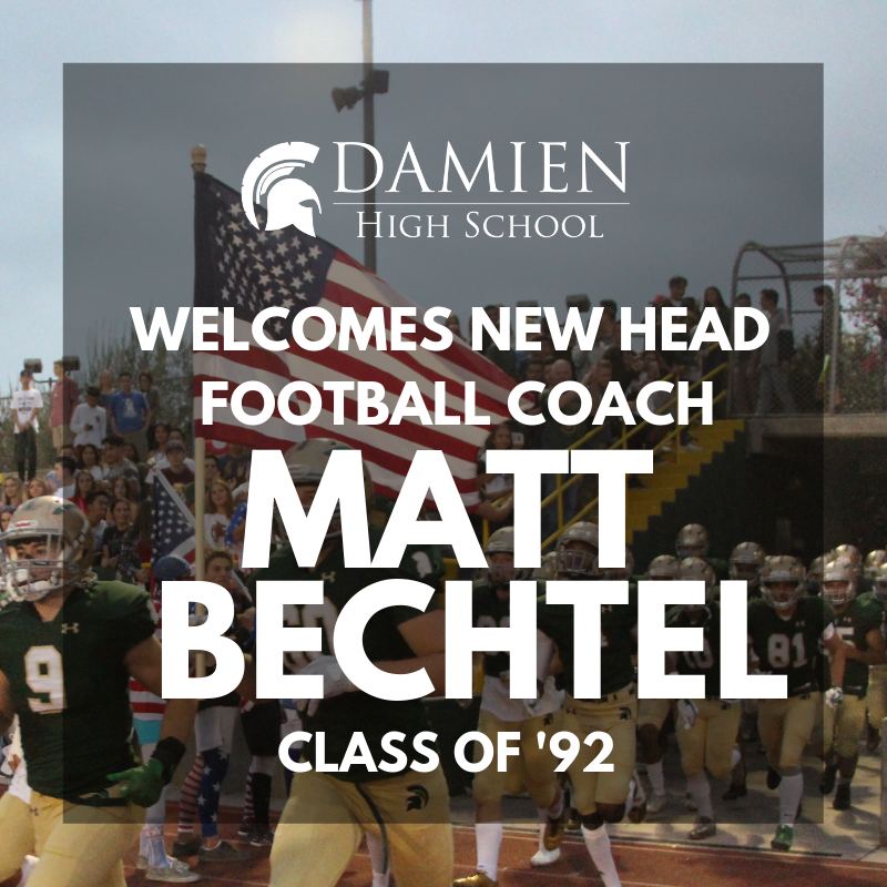 Damien names Matt Bechtel Head Football Coach Featured Photo
