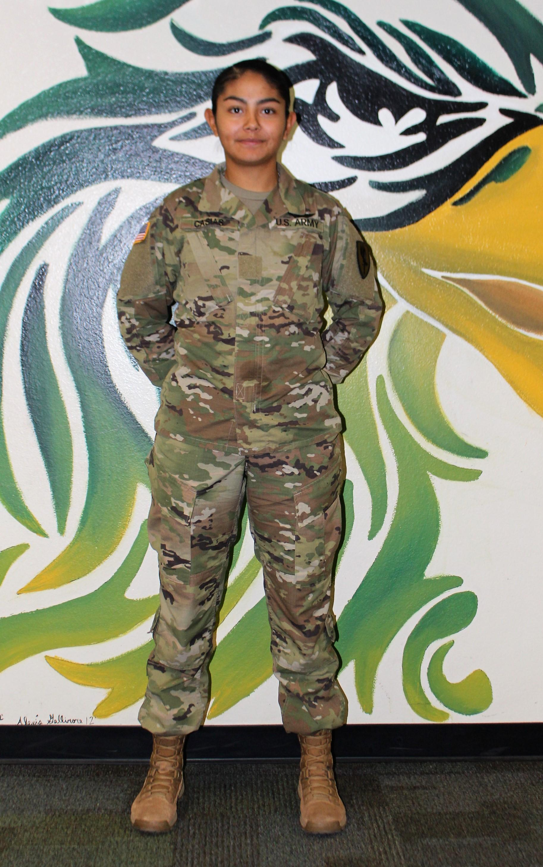 GCHS was pleasantly surprised by an unexpected visit from 2019 graduate Alexis Casias during the 2nd annual Military Week. Alexis enlisted in the United States Army and has trained to become an Aviation Specialist. Her next duty station will be in Korea for the next year. We congratulate her and wish her the best.