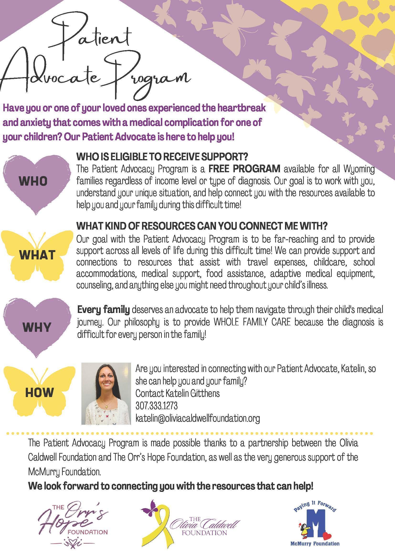 Patient Advocacy Program flyer