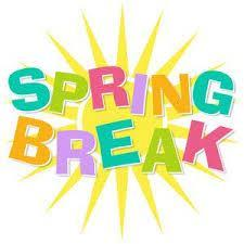 Spring Break is here!  April 15 - 19: Enjoy! Featured Photo