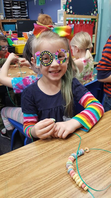 Kindergarten celebrating 100 days