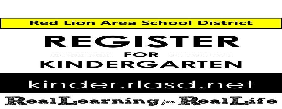 Register for Kindergarten at kinder.rlasd.net