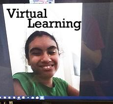 Virtual Learning with the students at home