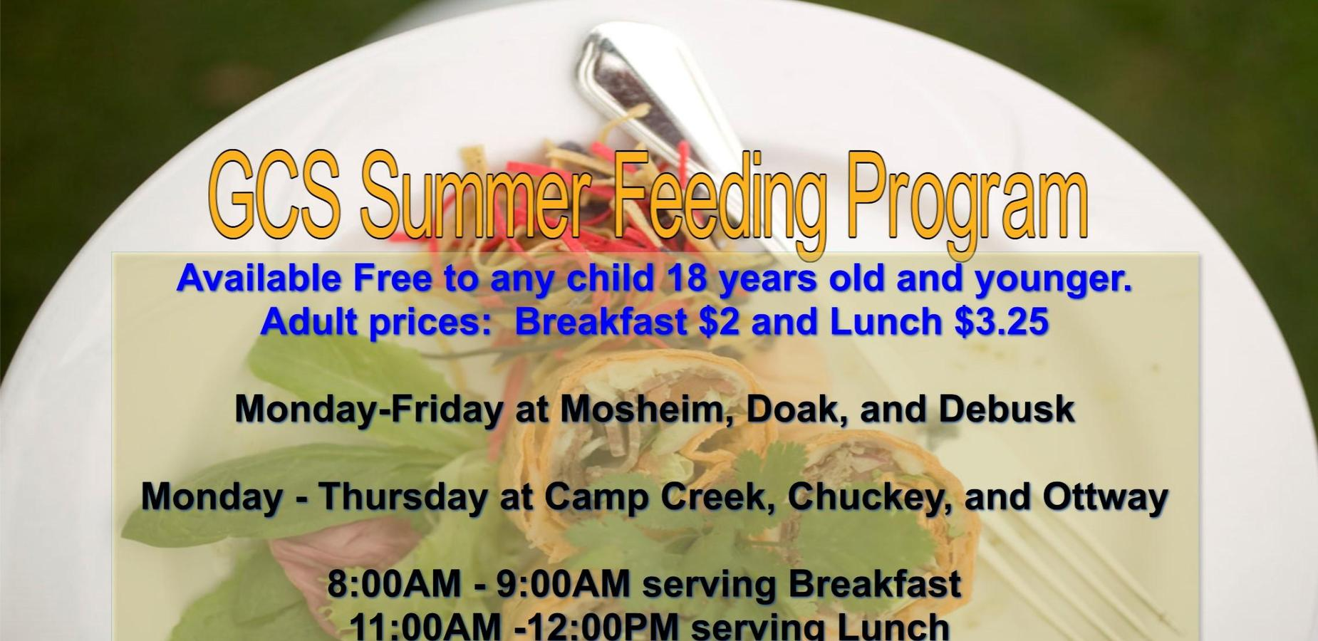 GCS Summer Feeding Program
