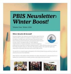 PBIS Newsletter 2018:  Winter Boost!