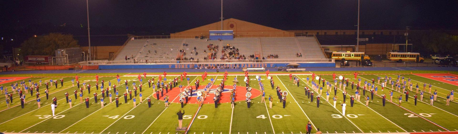 Pascagoula Bands Take the Field, 358 Students Strong