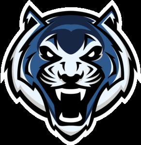 Tiger--blue clip art.png