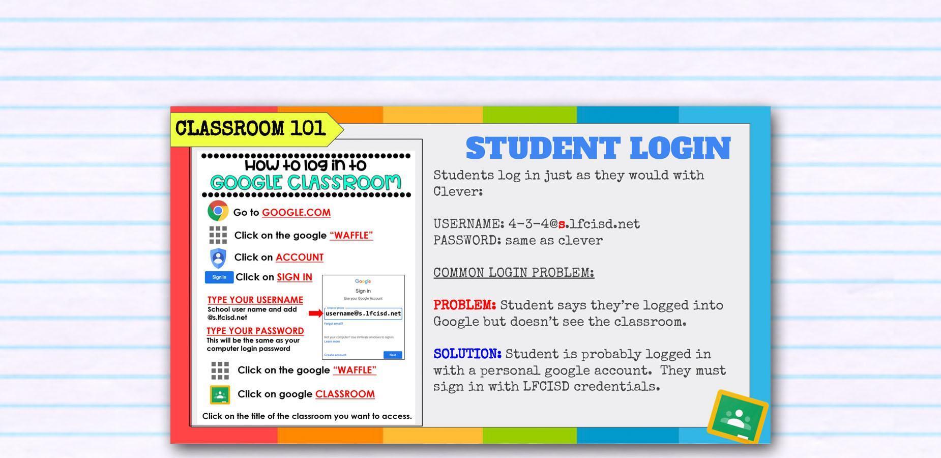 Google Classroom 101 Banner