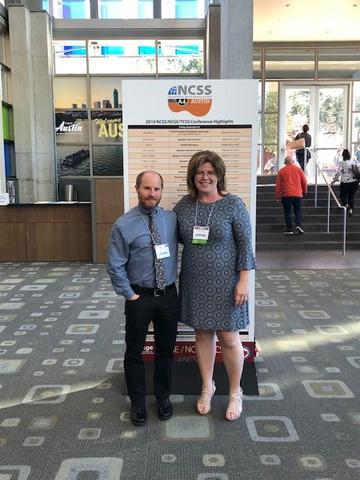 Photo of WHS teachers Kimberly Leegan and Steven Cohn attending a national conference in Austin, Texas.
