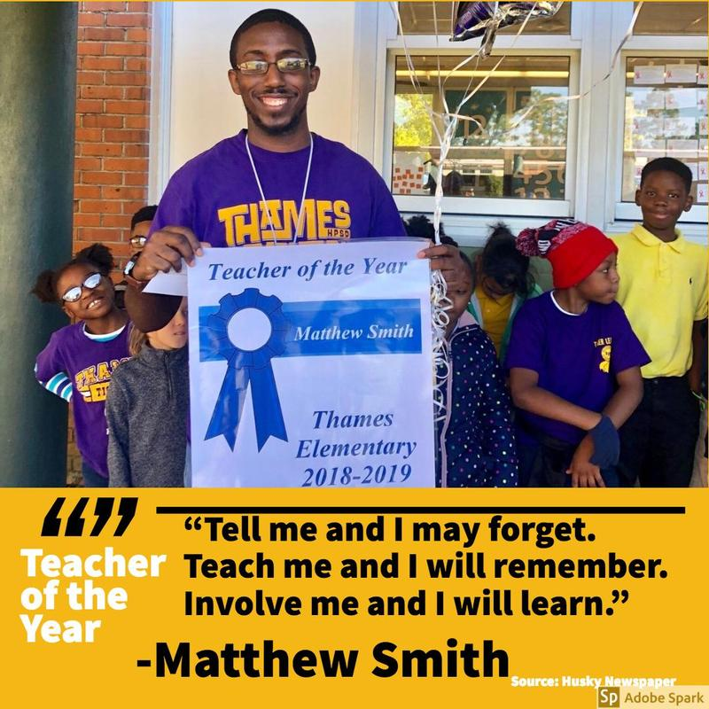 Thames Teacher of the Year 2018-2019 Featured Photo