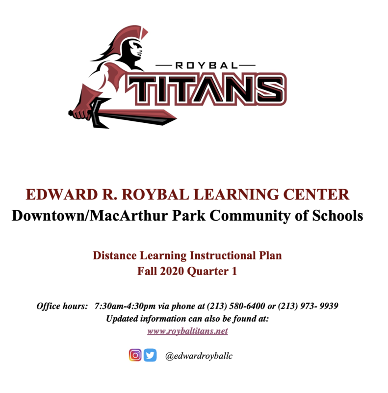 Roybal Learning Center Distance Learning Instructional Plan Thumbnail Image