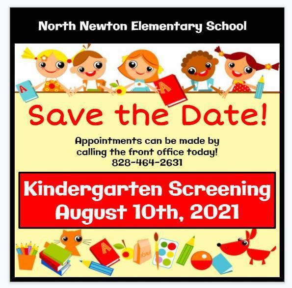 Kindergarten Screening Save the Date Flyer