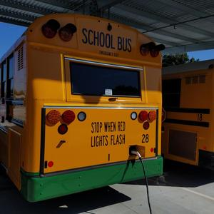 back view of new electric bus for EUSD