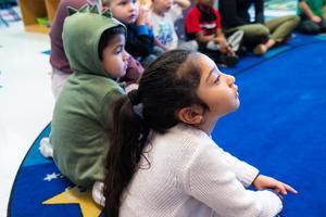 Students listening to teacher