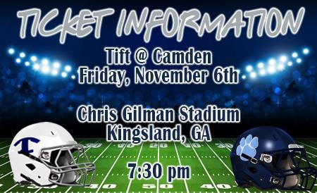 Football Tickets Available for Novemer 6th Game at Camden Featured Photo
